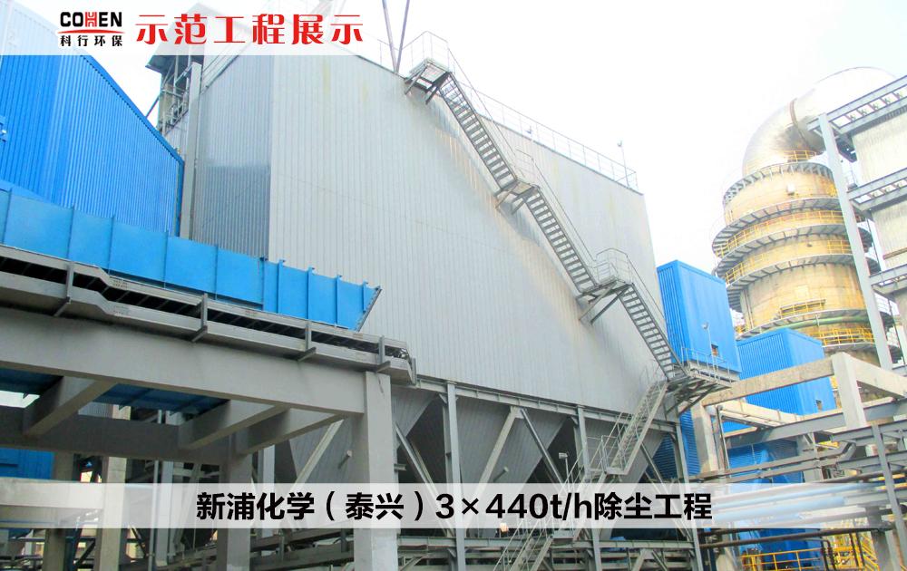 新浦化學(泰興)3×440t/h除塵工程